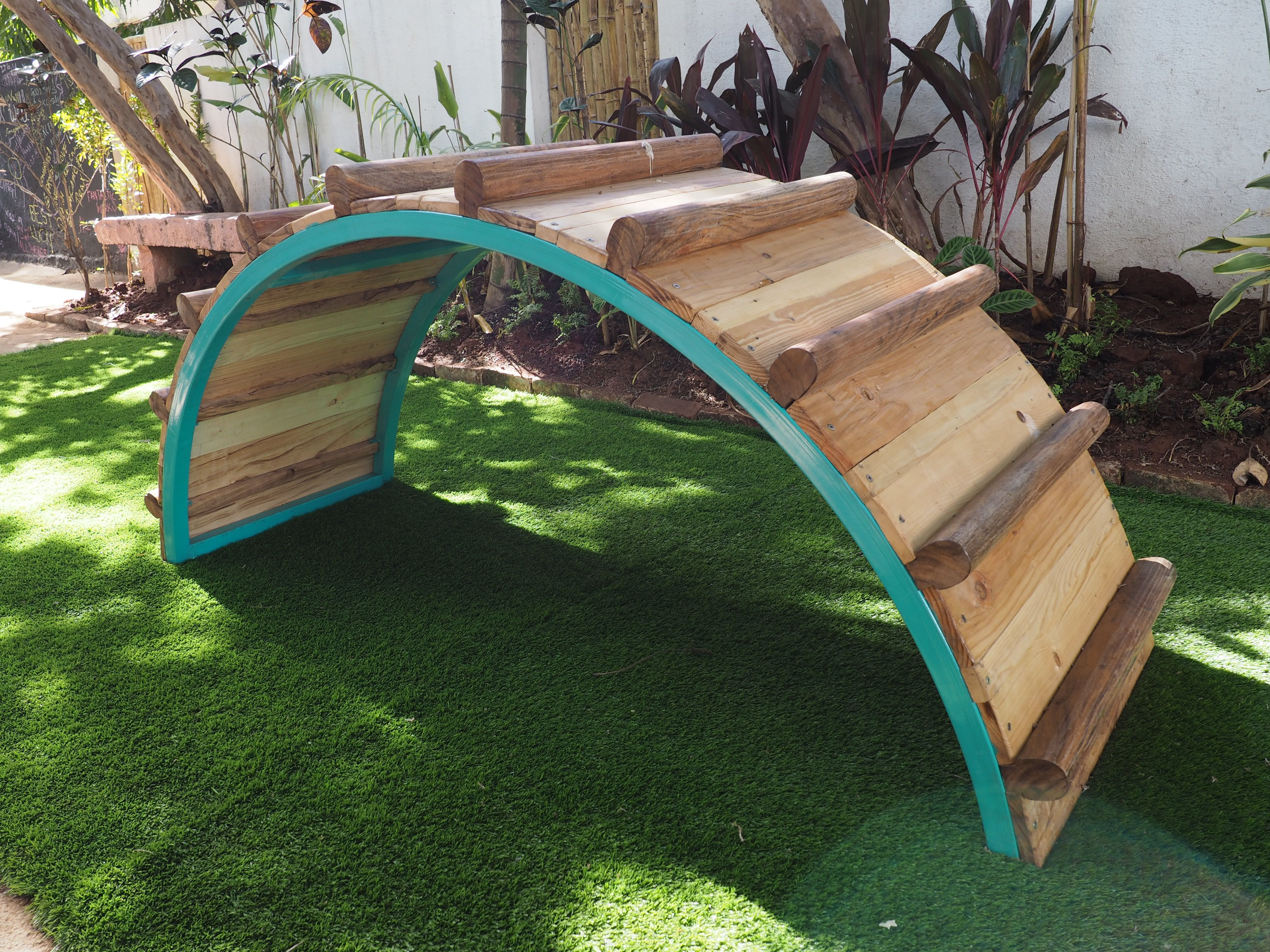 A climbing arch designed for a preschool in bangalore we for Gardening tools in bangalore