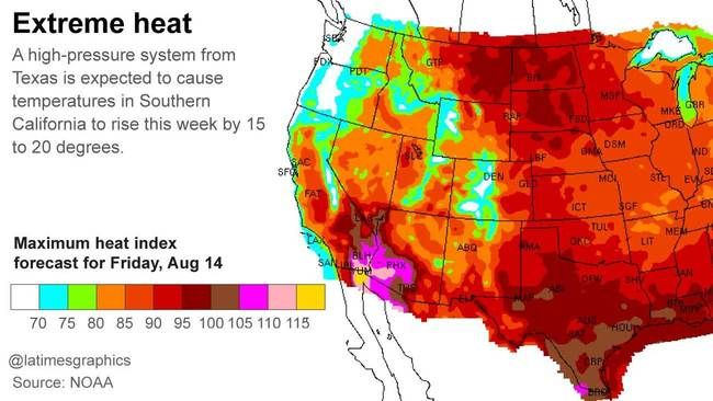 Heat Wave Expected To Bake Los Angeles By Thursday Heatwave Southern California California