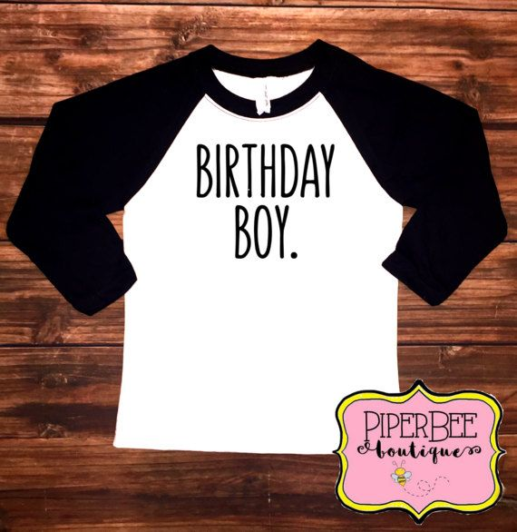 Birthday Shirt Boy Youth Outfit Tee Raglan