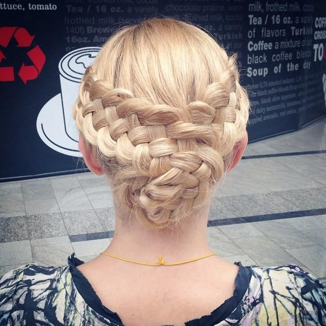 5 Strand Braided Updo - Hairstyles How To