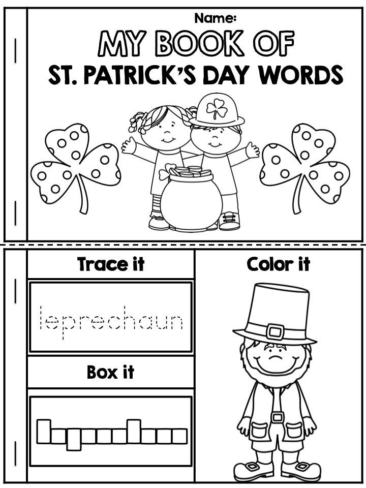 My Book Of St Patrick S Day Words Education Pinterest St