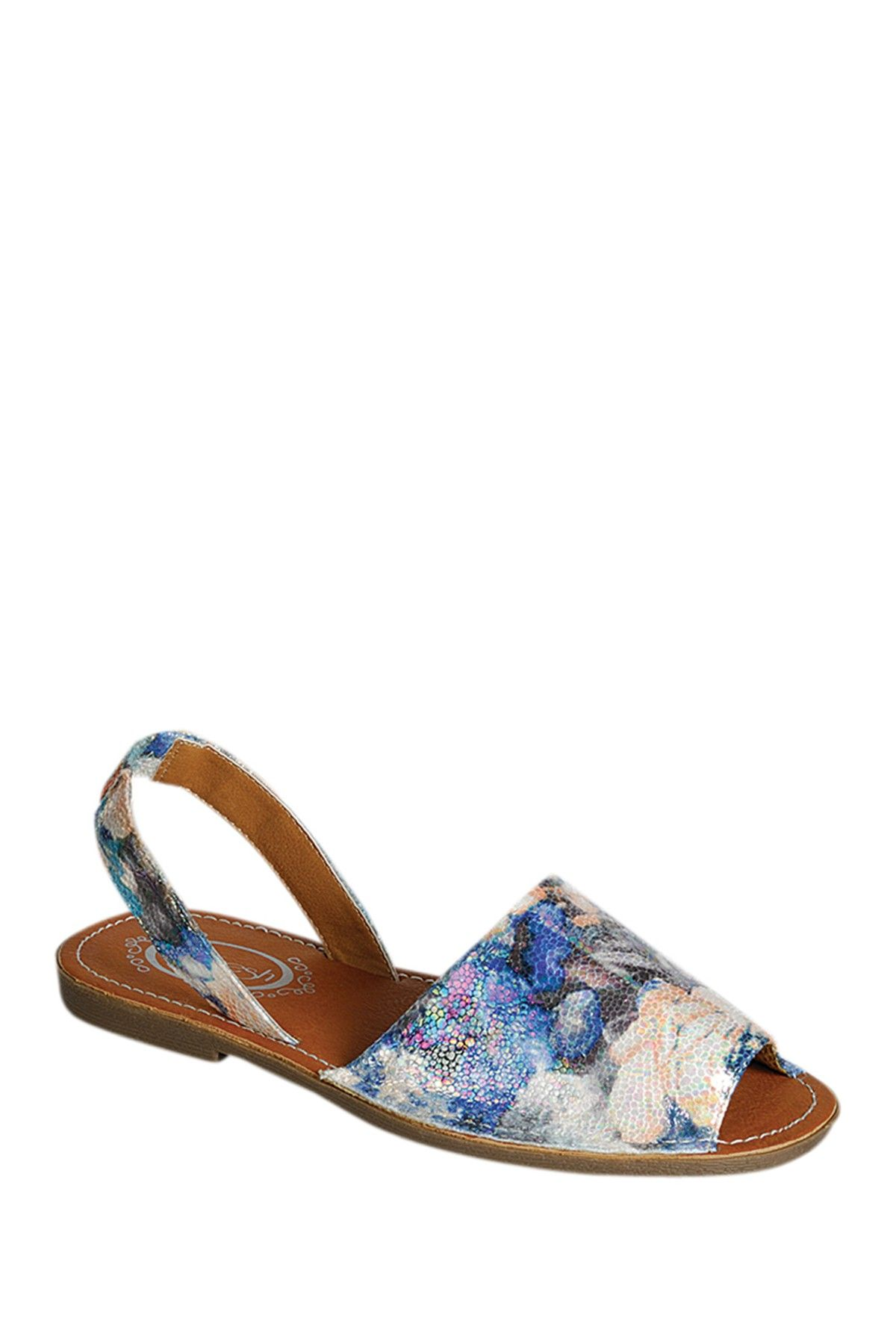 Clori Metallic Flat Sandal