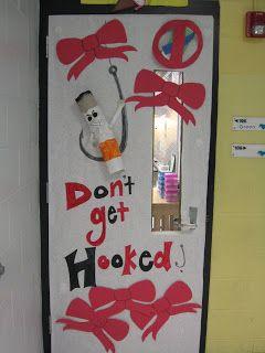 North Oldham Middle School Ptsa Red Ribbon Week Door Decorations