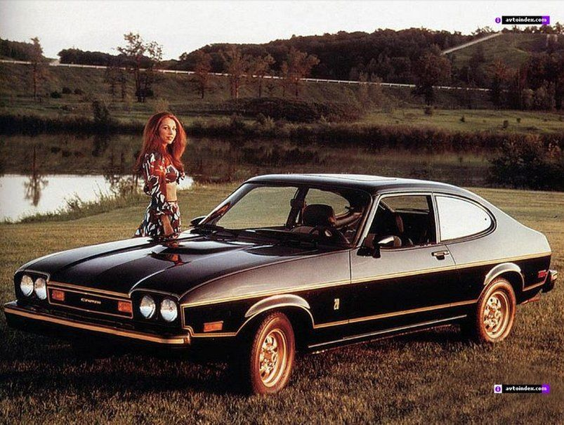 A Girl With Her Ford Capri 1970s Oldschoolcool Ford Capri
