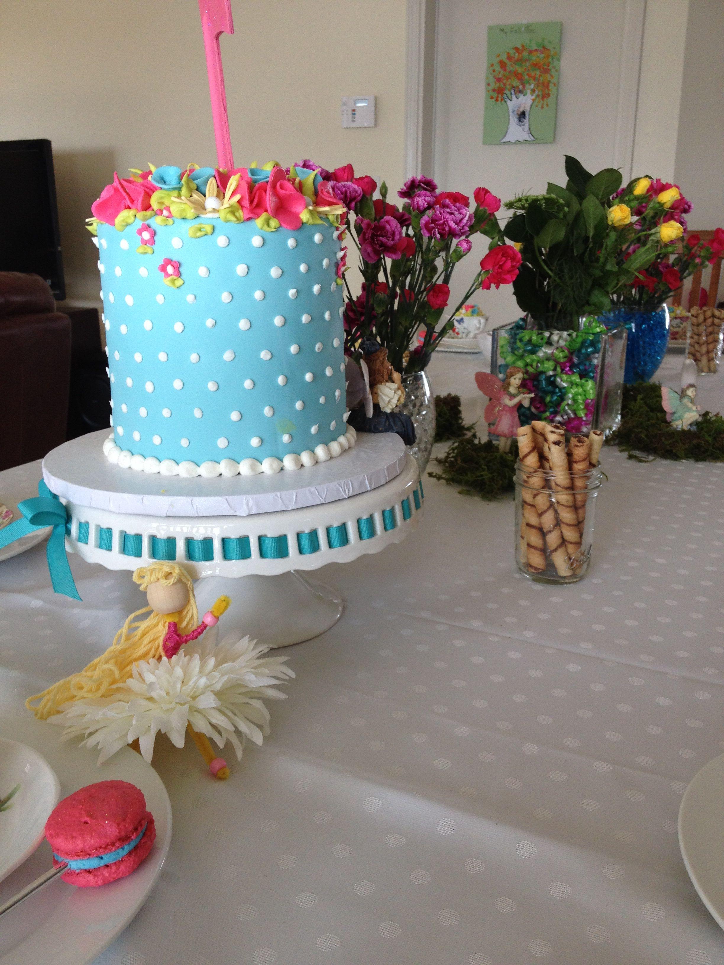 Fairy Cake Table Setting Tea Party Birthday 7th