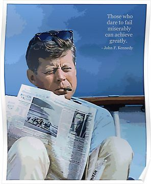 dcbcca2b036 Painting John F. Kennedy and quotation Poster