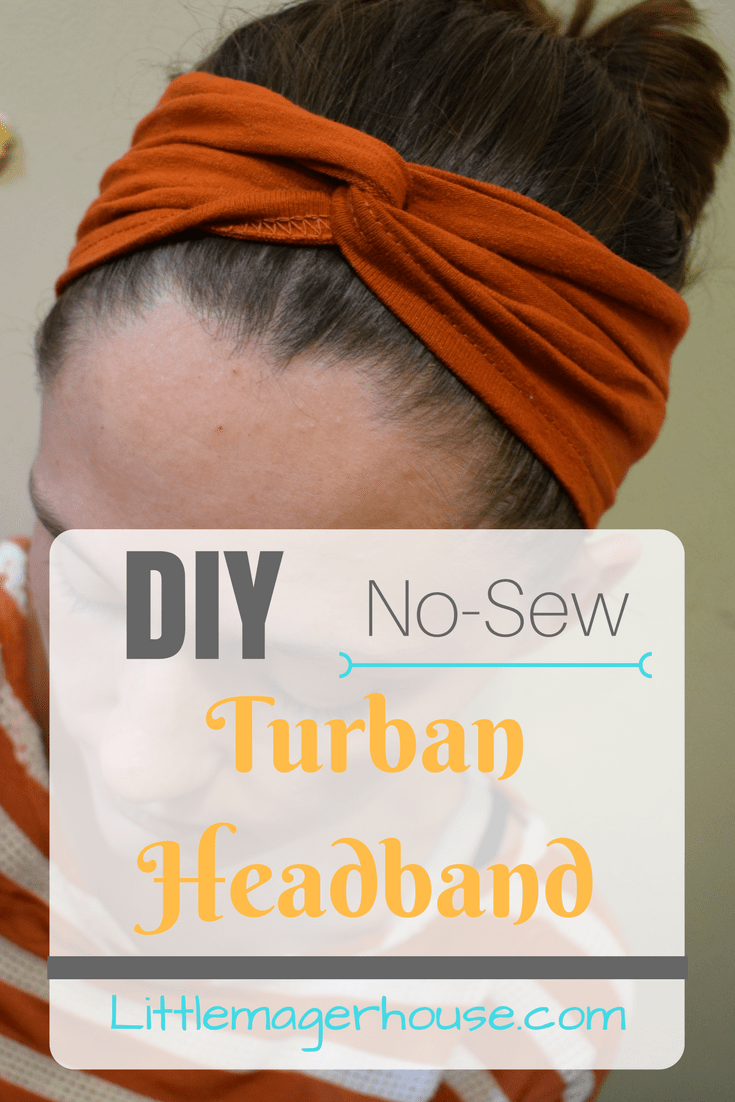 DIY Turban Headband - No-Sew - Little Mager House