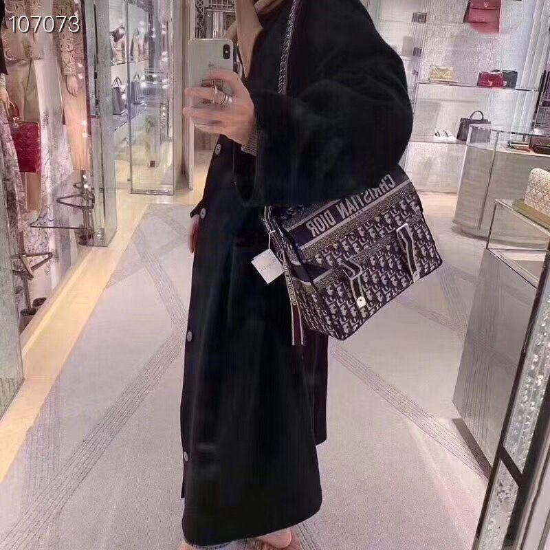 5ba5542f5 Christian Dior cd camp canvas messenger shoulder bag oblique style ...