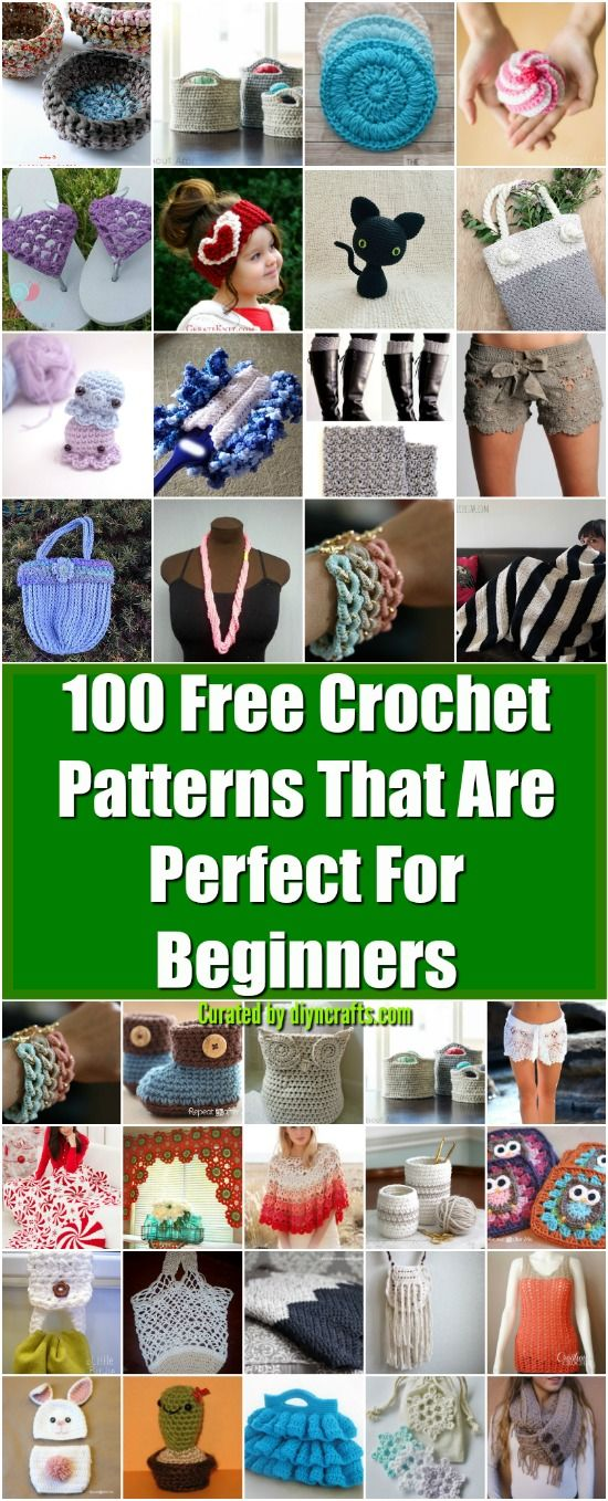 100 Free Crochet Patterns That Are Perfect For Beginners Easy
