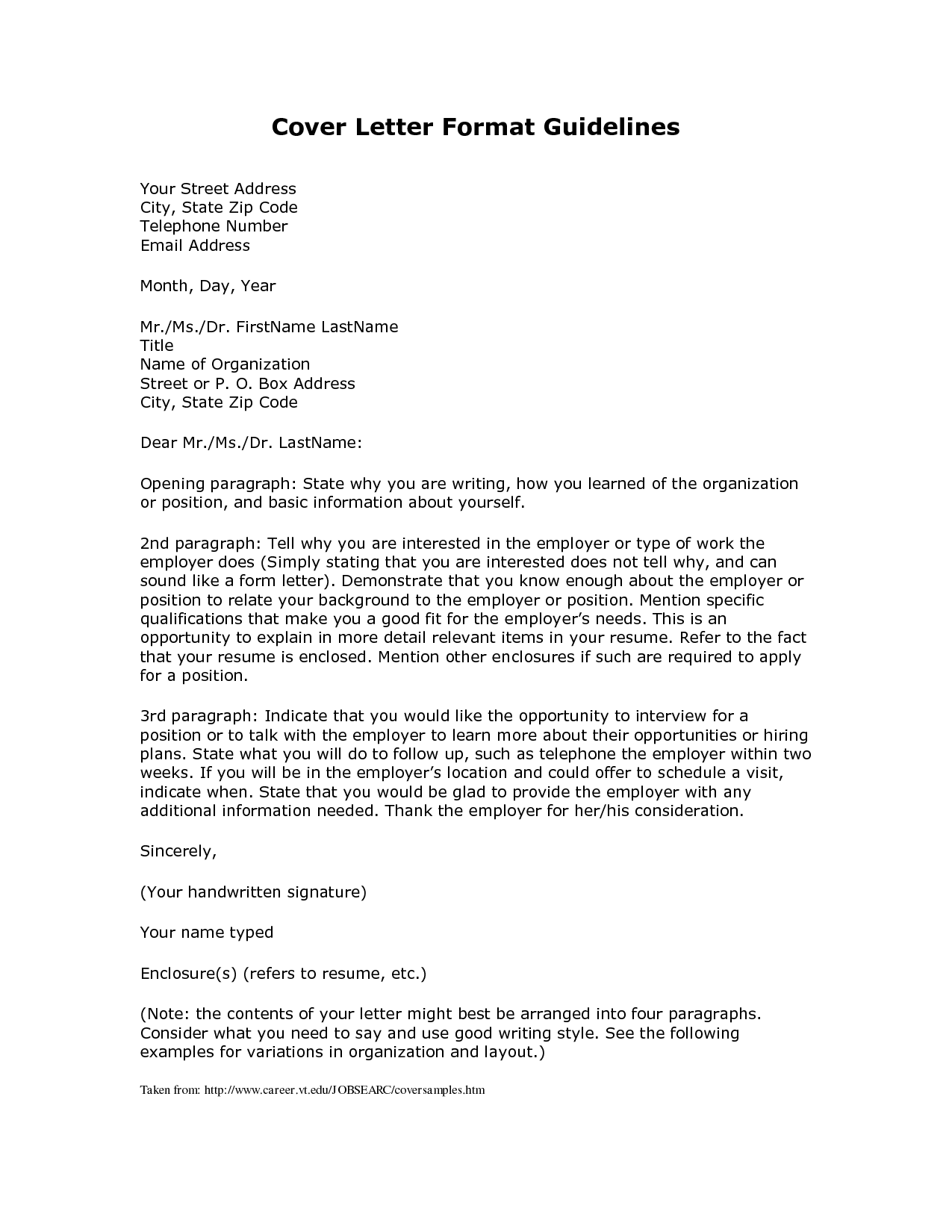 Cover Letter Template Address CoverLetterTemplate