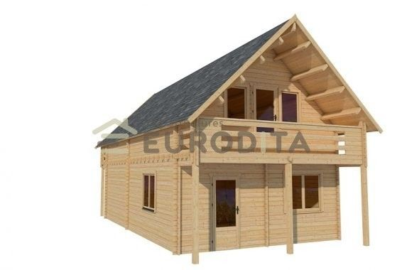 Eurodita 3 Bed Prefab House Log Cabin Pool House Guest House