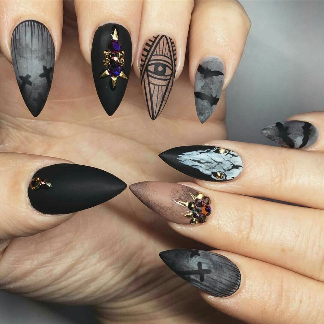 28 Funny Acrylic Nail Art Designs Ideas: 45 Spooky Nail Art Designs For The Halloween Event