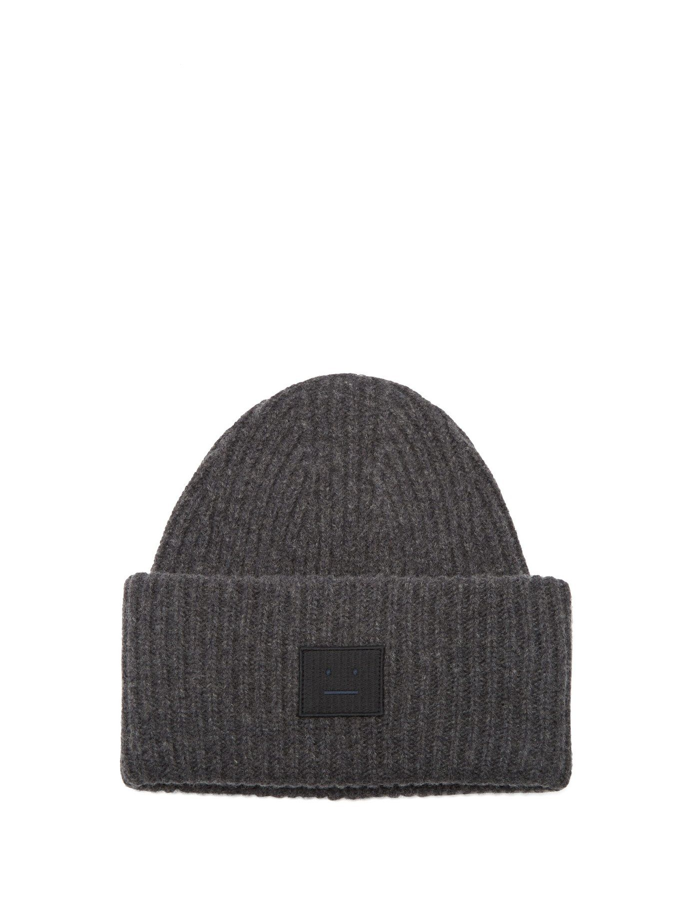 e666316a627 ACNE STUDIOS PANSY S FACE RIBBED-KNIT BEANIE HAT.  acnestudios ...