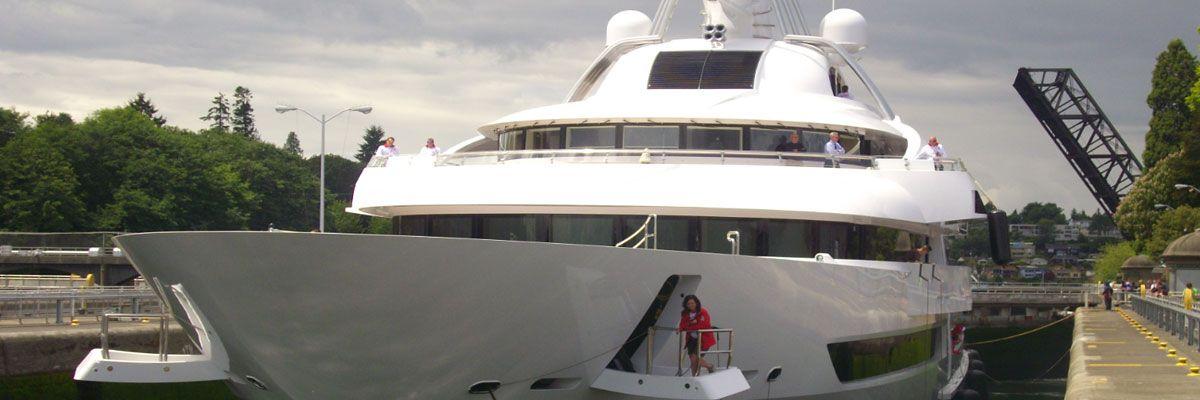 Emerald landing megayacht berthing vessel support