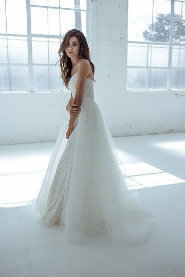 Karen Willis Holmes \'Alice Train\' with sequin wedding gown. Follow ...
