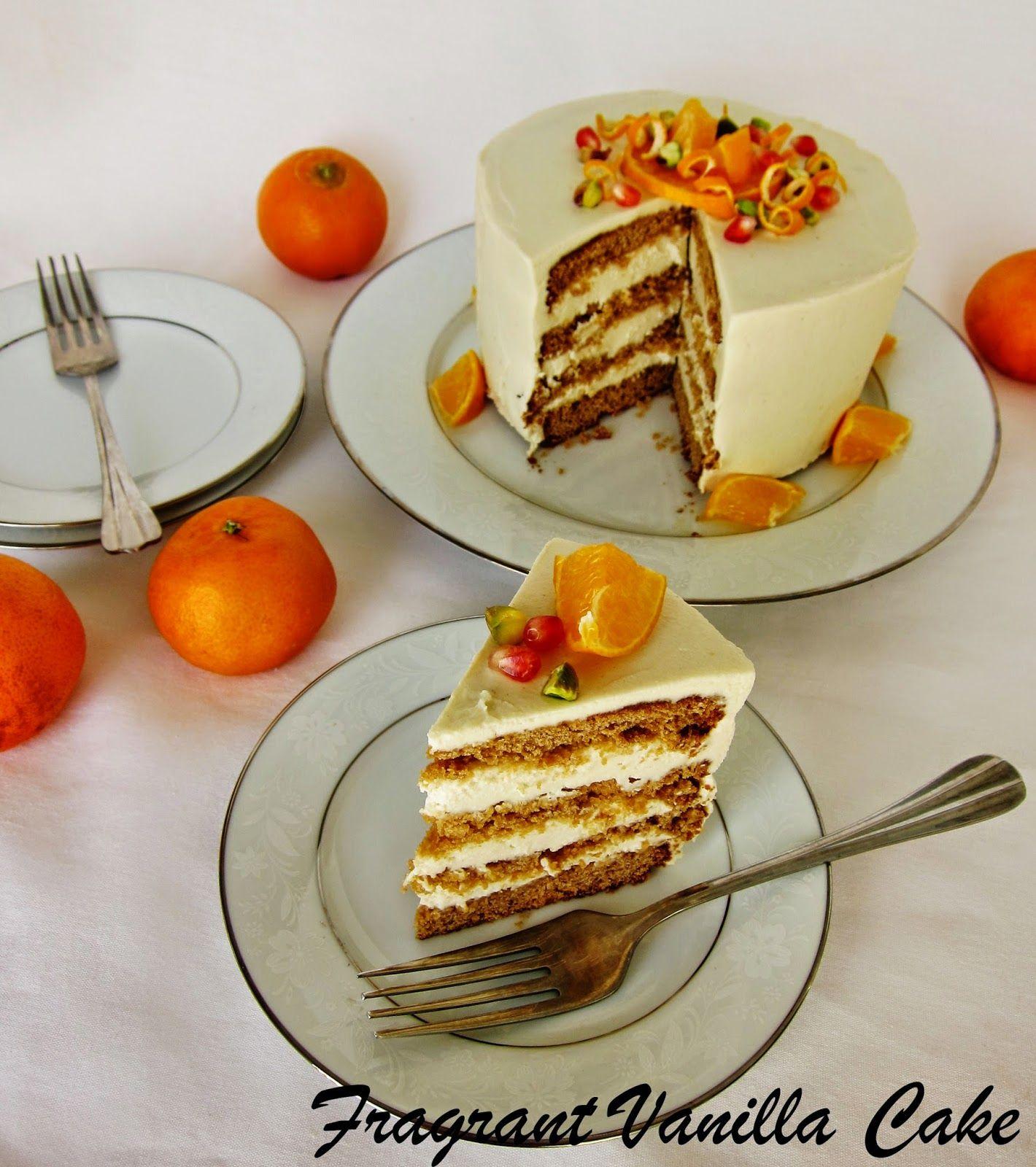 Fragrant Vanilla Cake Vegan Orange Blossom Layer Cake Vegan Sweets Dessert Recipes Just Desserts