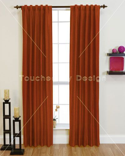 toucheddesign panama burnt orange curtain #fadswinterwarmer