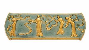 Dancing Maidens Brooch. Rene Lalique (1860 -1945). Circa 1905. Gold, enamel.
