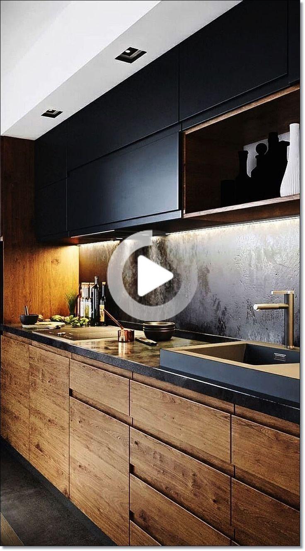 35 Küchen Designs für Küche renovieren. Moderne Küche Dekor mit schwarzem wo ... # black #decor