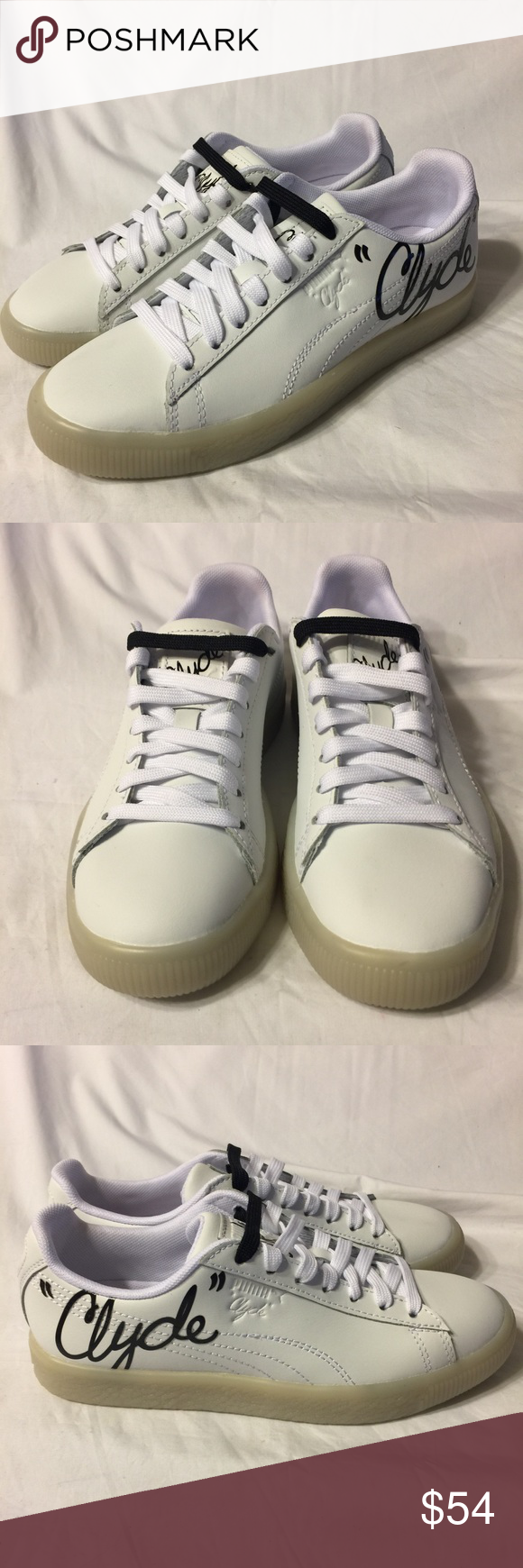 buy popular cb41d 72f0e Puma Clyde Signature Ice white leather shoe 4.5 New without ...