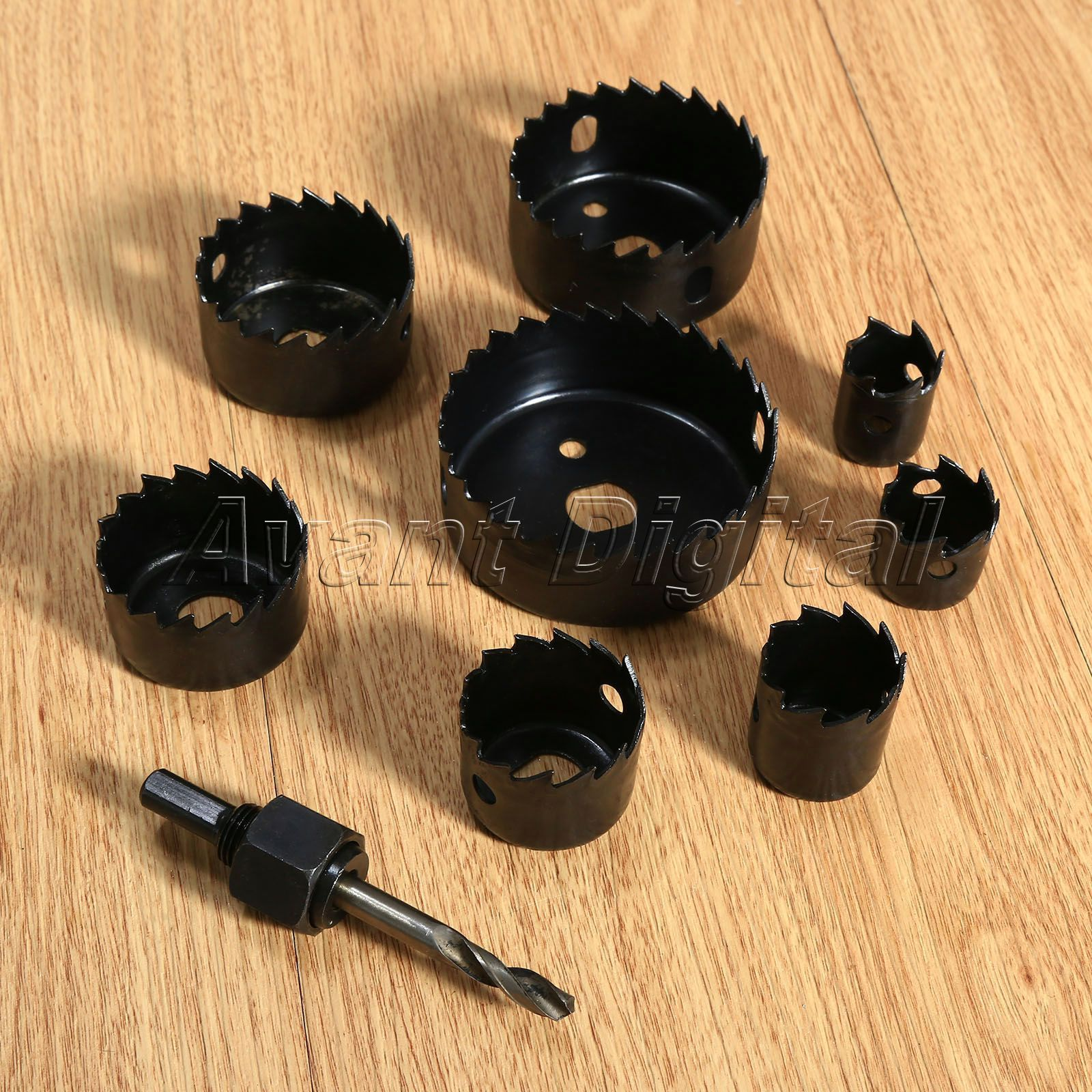 8 Hole Saw Tool Saw Drill Bit Kit 1 Mandrils Metal Cutter Use For Plastic Wood Metal For Sale Metal Cutter Plastic Sheets