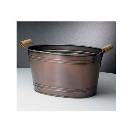 Copper Beverage Ice Tub W Wooden Handles The Master Of My