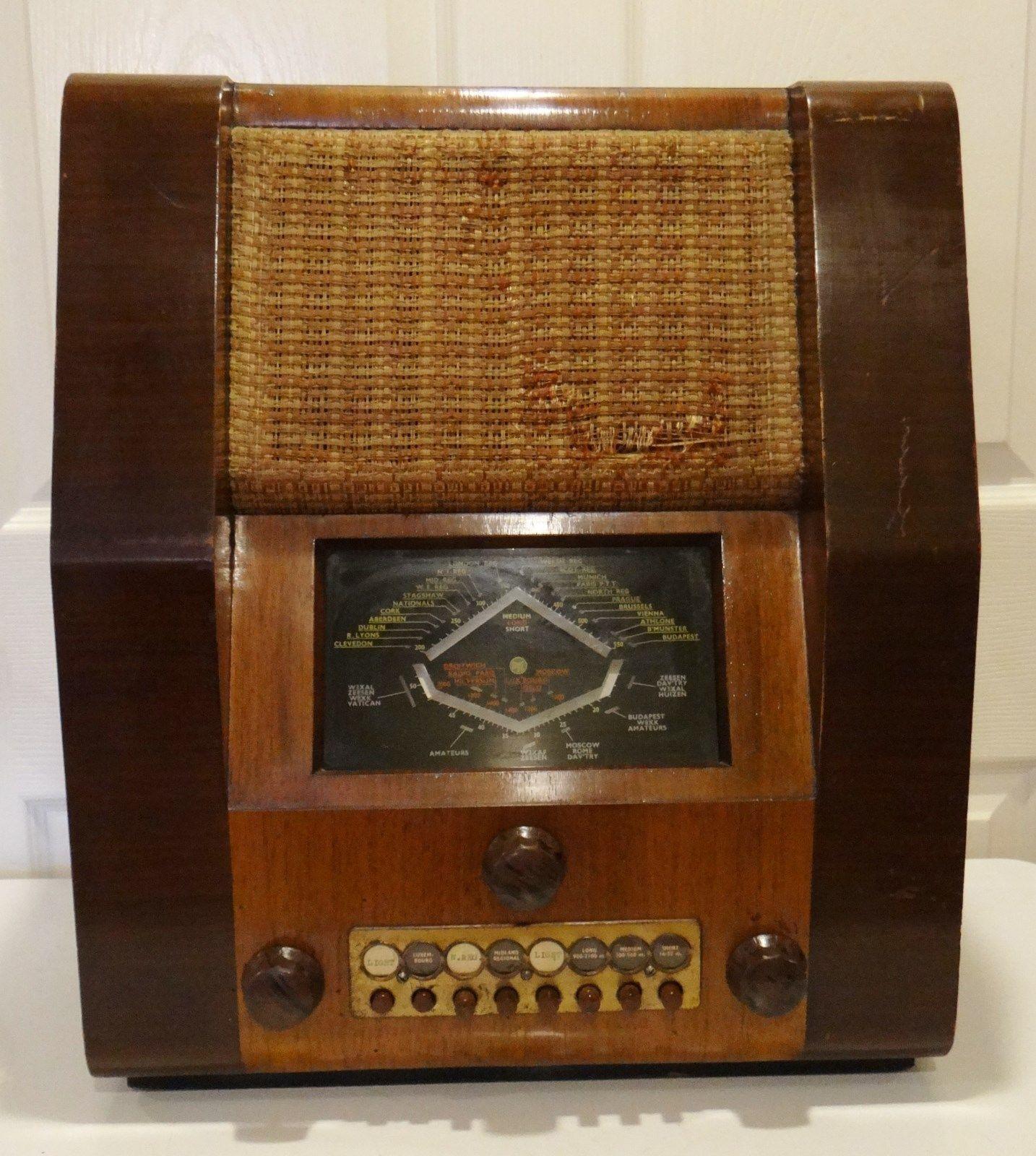 Beautiful Vintage 1933 Pye Tube Radio Restored Working British Vintage Radio Antique Radio Retro Radios