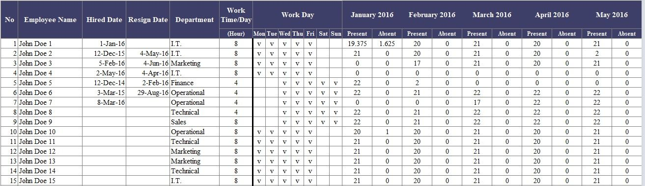 Staff Holiday Planner Template Free Excel Company Templates