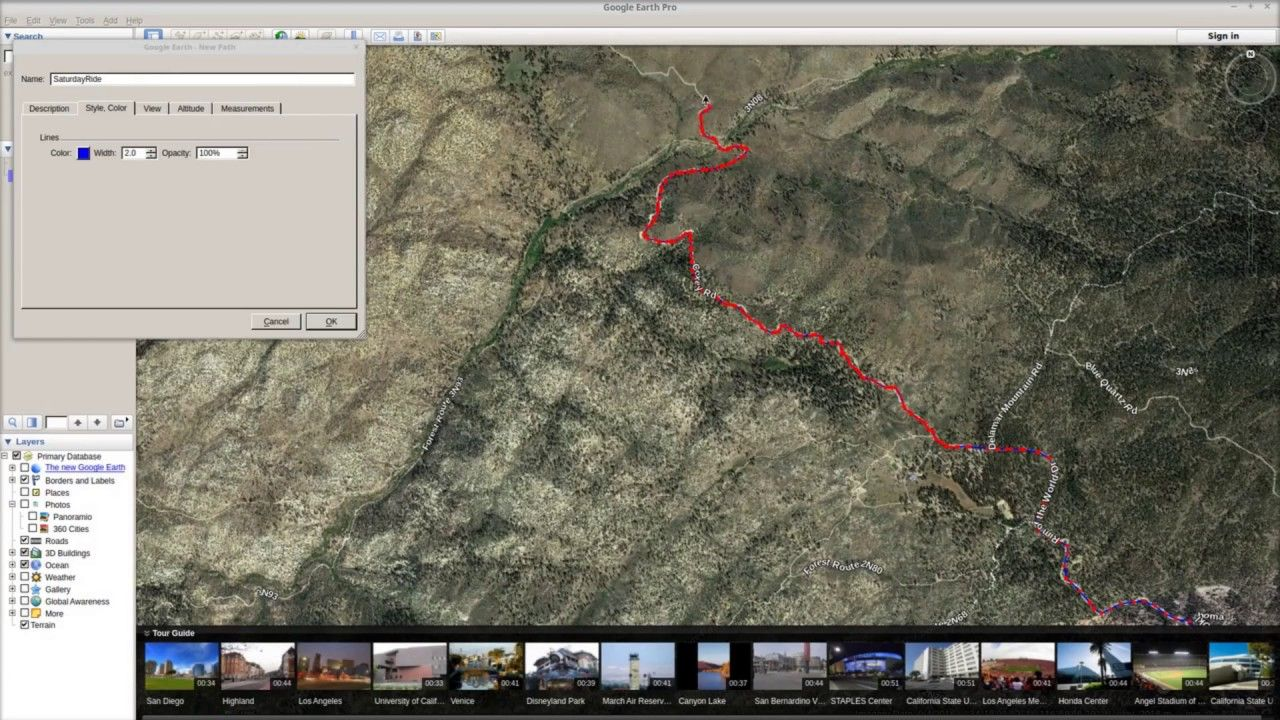 How To Plan a Off Road Ride in Google Earth and Import to