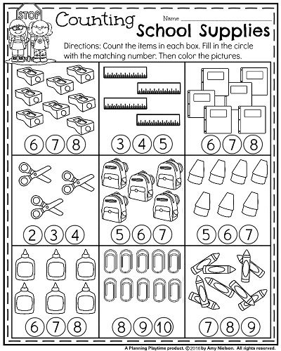 Free School Worksheets For Preschool : Back to school kindergarten worksheets