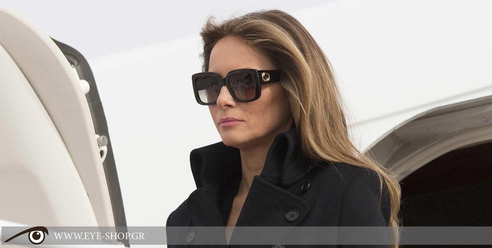 4e649cd131d2 Melania Trump wearing Gucci sunglasses