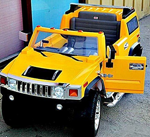 Electric Battery Operated Ride On Car For Kids Hummer H2 Model 1206 Yellow Kids Ride On Hummer H2 Car