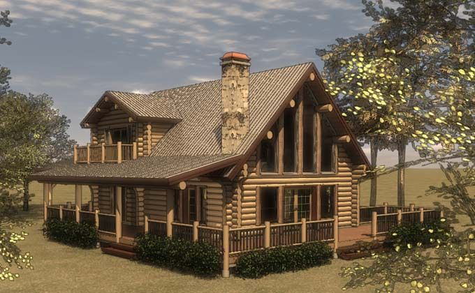 House Plans with Porches Cabin Logs and Small cabins