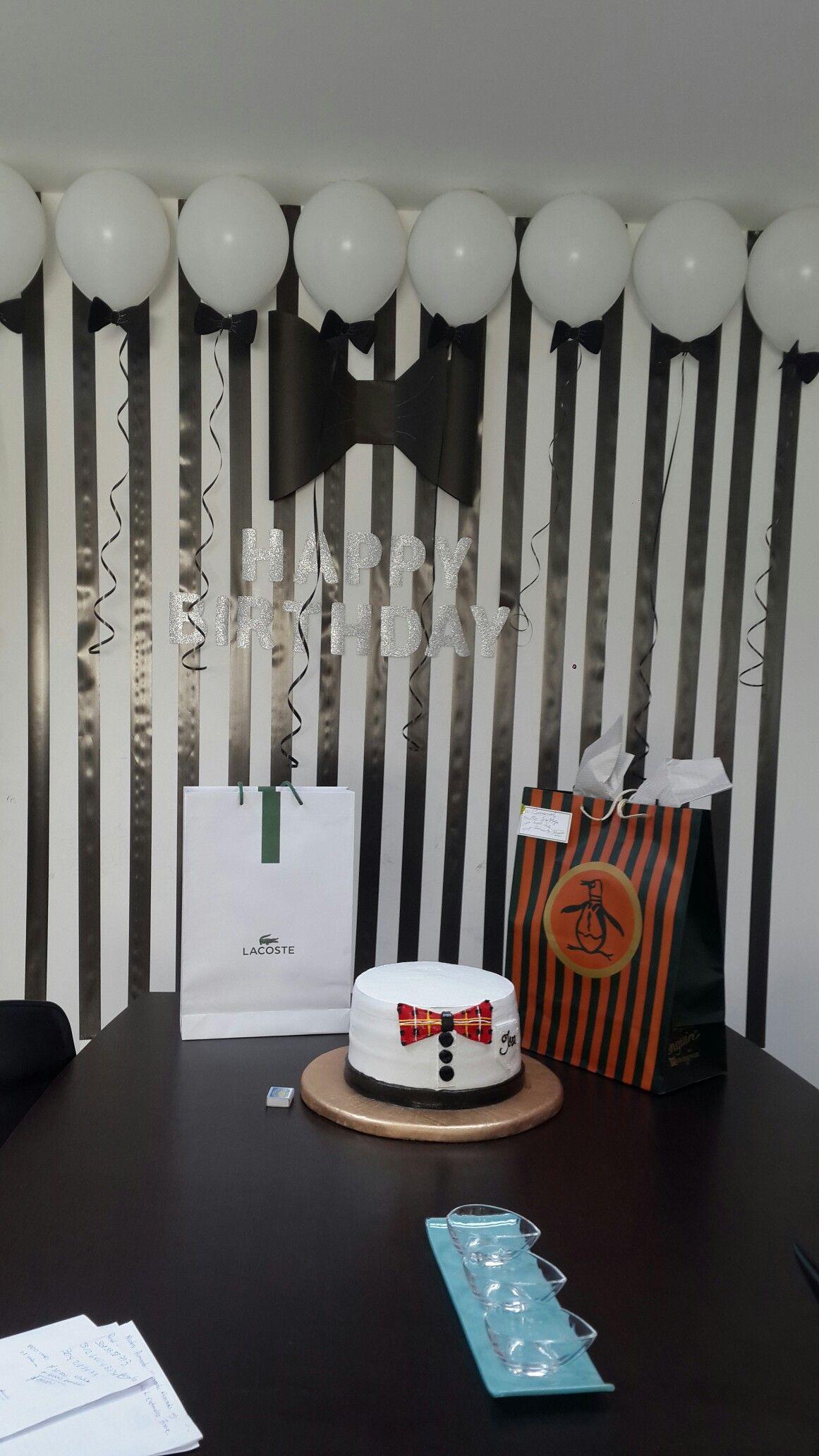 Decoracion cumplea os hombre creatividad decoraci n - Cortinas negras decoracion ...
