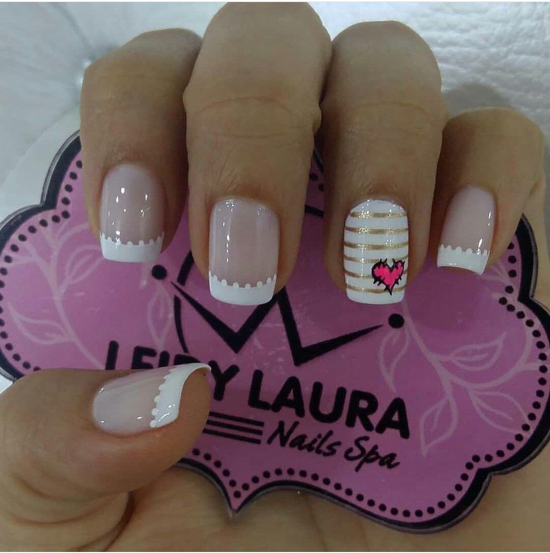 Pin by abigail jimenez on Decorados para uñas cortas | Nails, Trendy nails,  Valentines nails