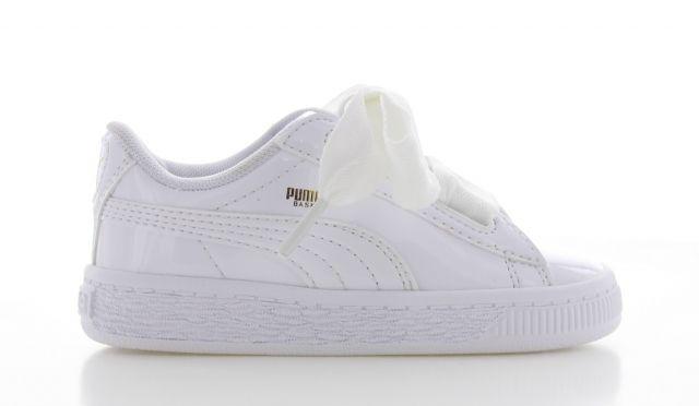 Puma Basket Heart Patent White KIDS | Puma kids sneaker