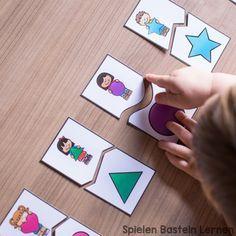 formen zuordnungspuzzles zum ausdrucken autismus kindergarten formen formen f r kinder und. Black Bedroom Furniture Sets. Home Design Ideas