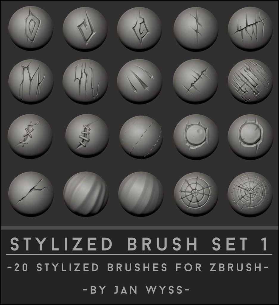 20 Stylized Brushes for ZBrush | zbrush tuts in 2019