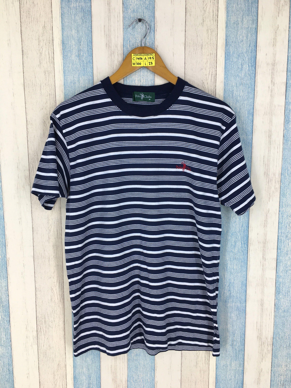 4ce68dcb30 Vintage POLO CLUB Stripes Tshirt Medium Mens Vintage 90 s Border Stripes  Black Streetwear Skaters Tshirt Size M by JunkDeluxeRetro on Etsy