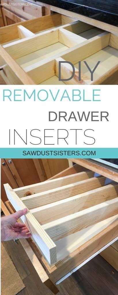 Super Easy Diy Drawer Divider Insert Diy Drawer Dividers Diy Drawers Kitchen Drawers