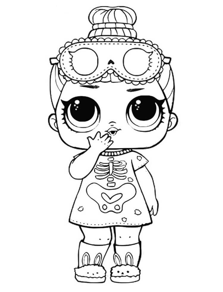 Sleepy Bones Lol Doll Coloring Page To Print Coloringpagestoprint Sleepy Bones Lol Doll Coloring Page To Lol Dolls Coloring Pages For Boys Halloween Coloring