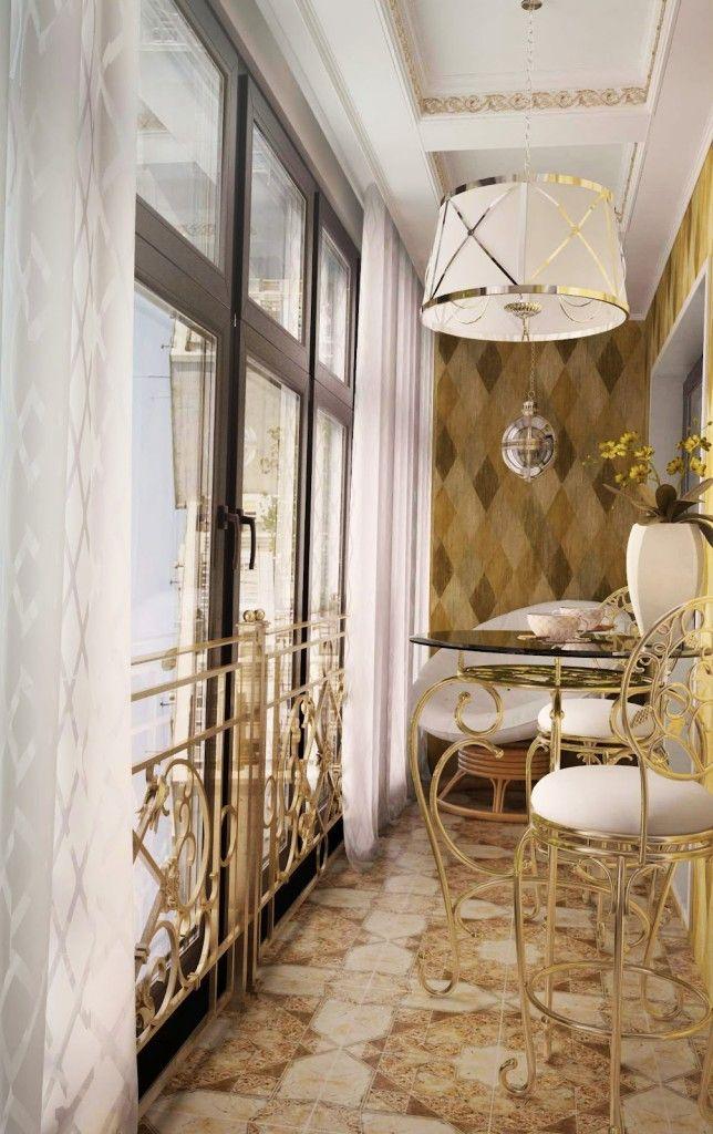 Интерьер балконов с витражным остеклением ремонт балкону жэком