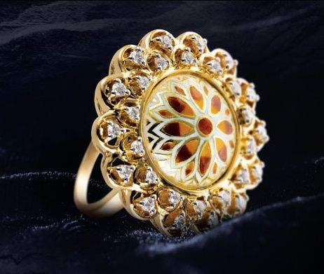 23a473192a44d tanishq taj collection - Google Search | Indian look | Gold ring ...