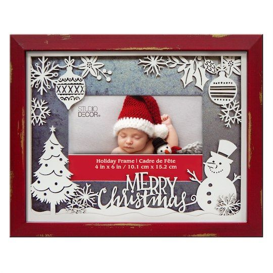 Studio Decor Merry Christmas Photo Frame With Laser Cut Mat By Décor