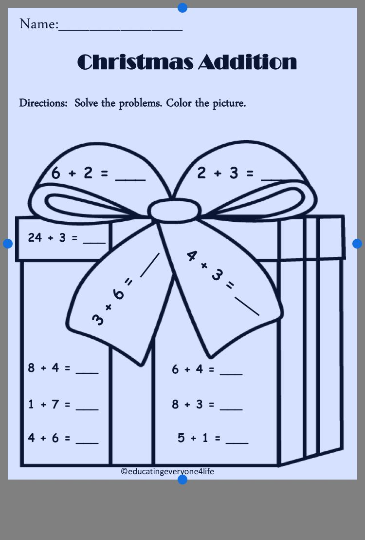 Pin By Carol Carpenter On Educational Kids Stuff Christmas Math Christmas Addition Christmas Kindergarten [ 1108 x 750 Pixel ]