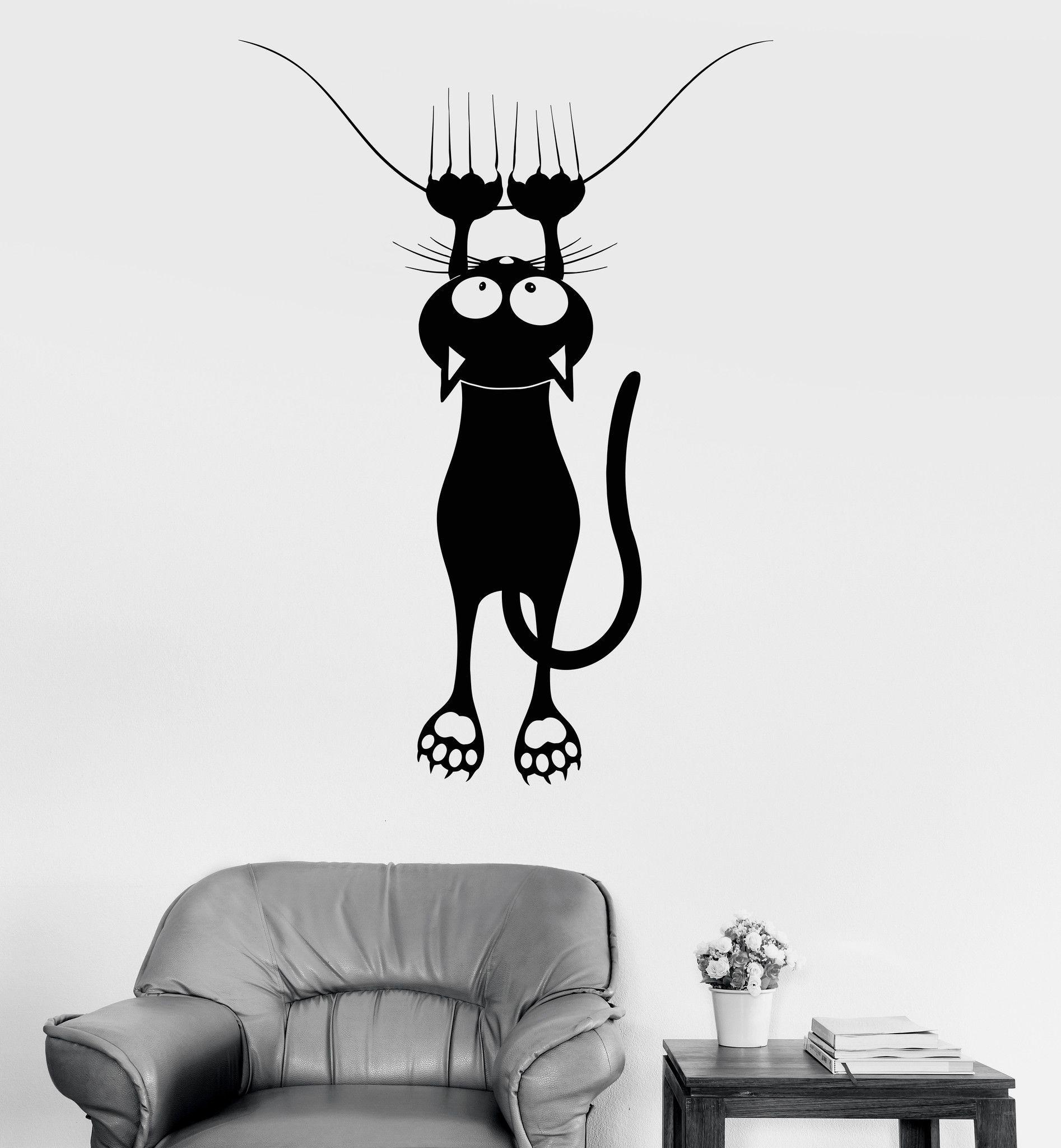 Vinyl Decal Wall Funny Cat Pet Shop Veterinary Clinic Decor