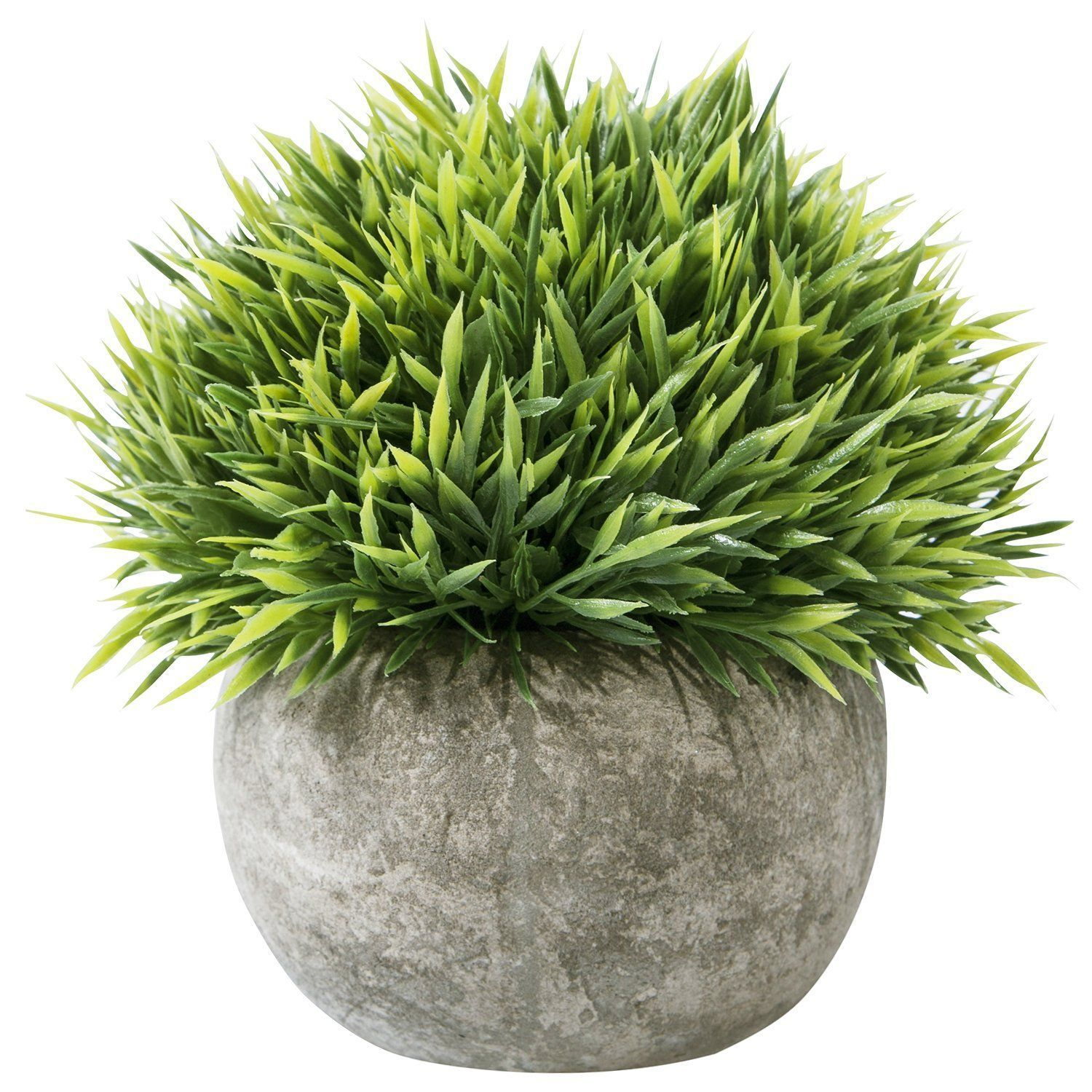 Leyaron Mini Plastic Fake Green Grass Small Artificial Potted Plants For Home Decor And Office Artif Fake Plants Decor Topiary Plants Artificial Potted Plants