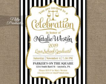 Items similar to Law School Graduation Invitation Official