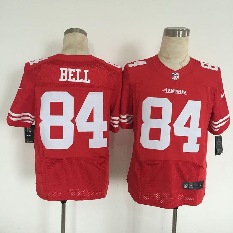 Men's San Francisco 49ers #84 Blake Bell Nike Red Elite Jersey