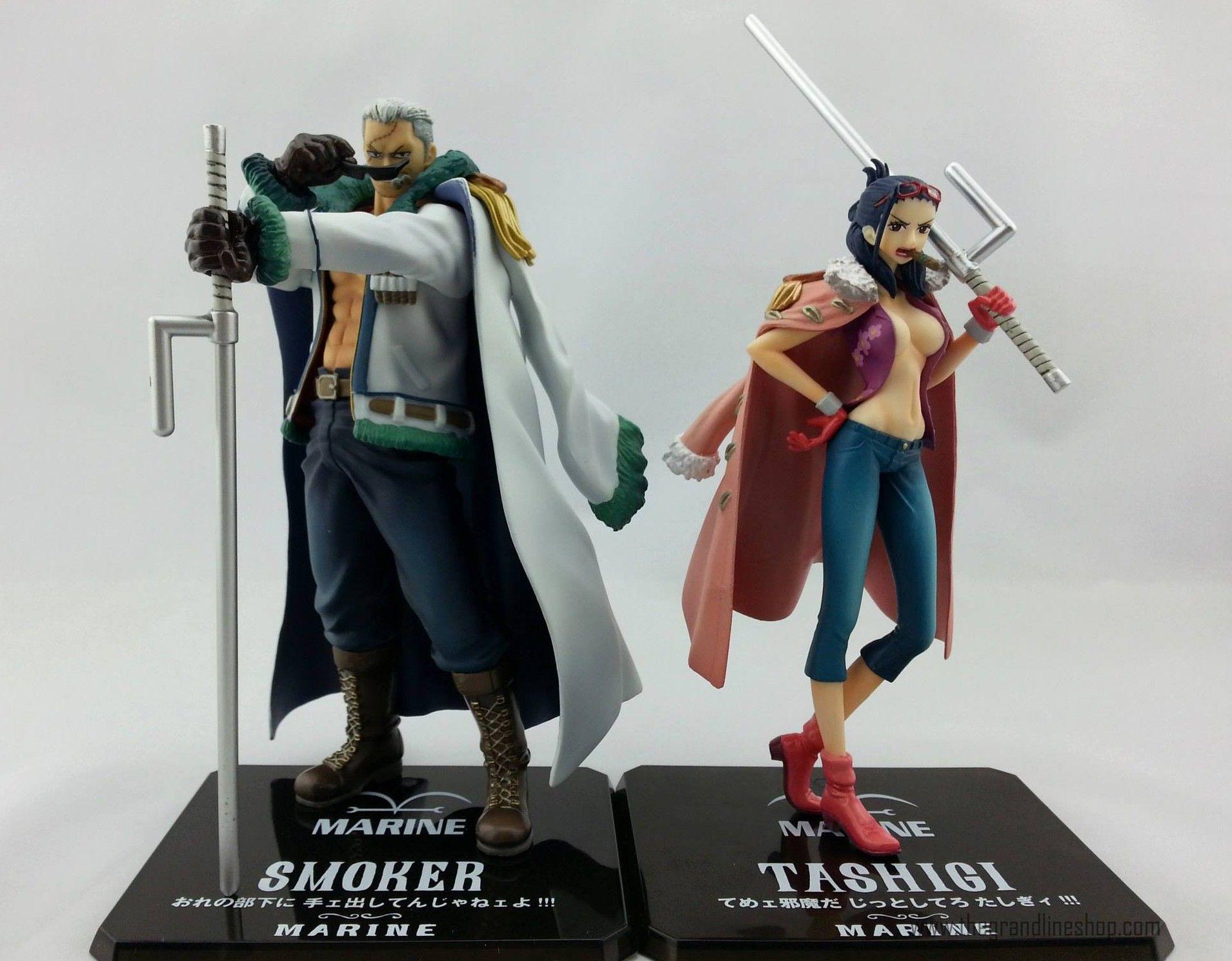 One Piece Figuarts Zero Smoker And Tashigi Figures Punk